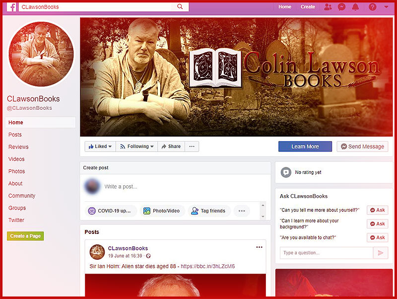 The Colin Lawson Author Facebook Page